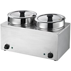 Commercial Countertop Food Warmer Steam Table Soup Station 2 Pots