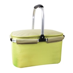 Collapsible picnic basket Insulated Picnic Tote Cooler Bag Sewn
