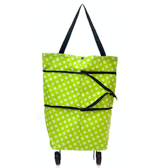 Shopping trolley bag cart grocery folding handbag tote rolling wheels