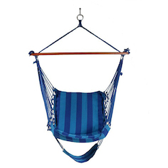 Hanging Padded Cushioned Lounge Hammock Swing Chair Footrest C Stand