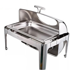 Full Size Oblong Glass Window Roll Top Chafing Dish